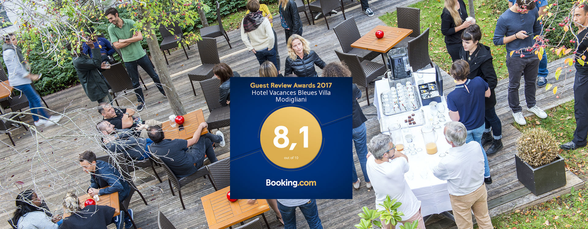 Awards 2017 booking.com - Hôtel*** Paris La Villa Modigliani